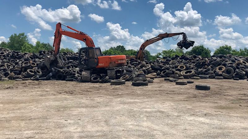 Tire waste collection in Warren County