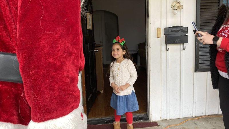 Franklin girl gets visit from Santa on Christmas Eve (WBKO)