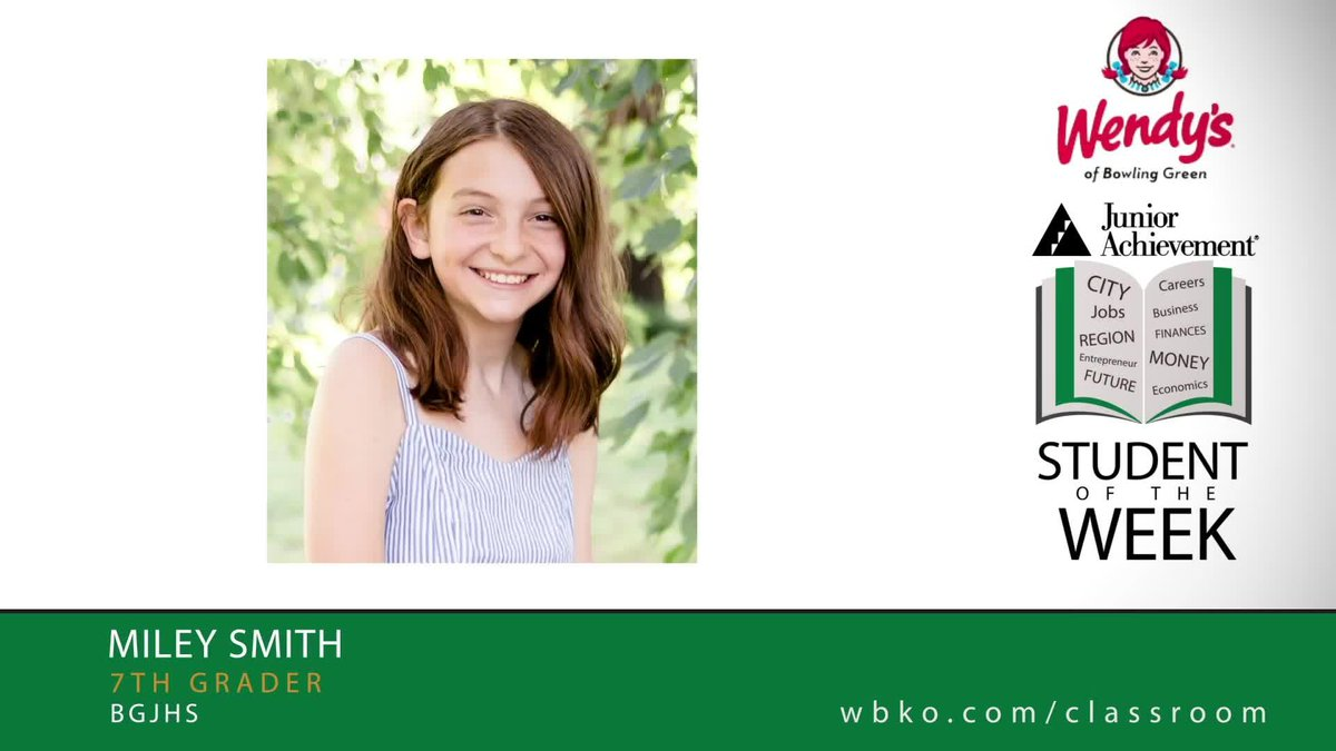 The JA Student of the Week is Miley Smith