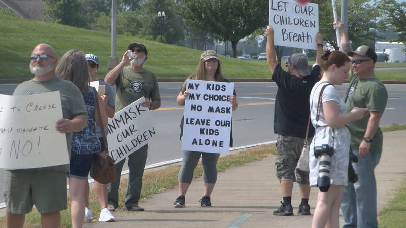 Warren County anti mask protest