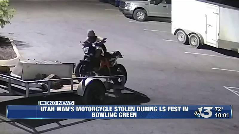 Utah MAn's Motorcycle Stolen During LS Fest in Bowling Green