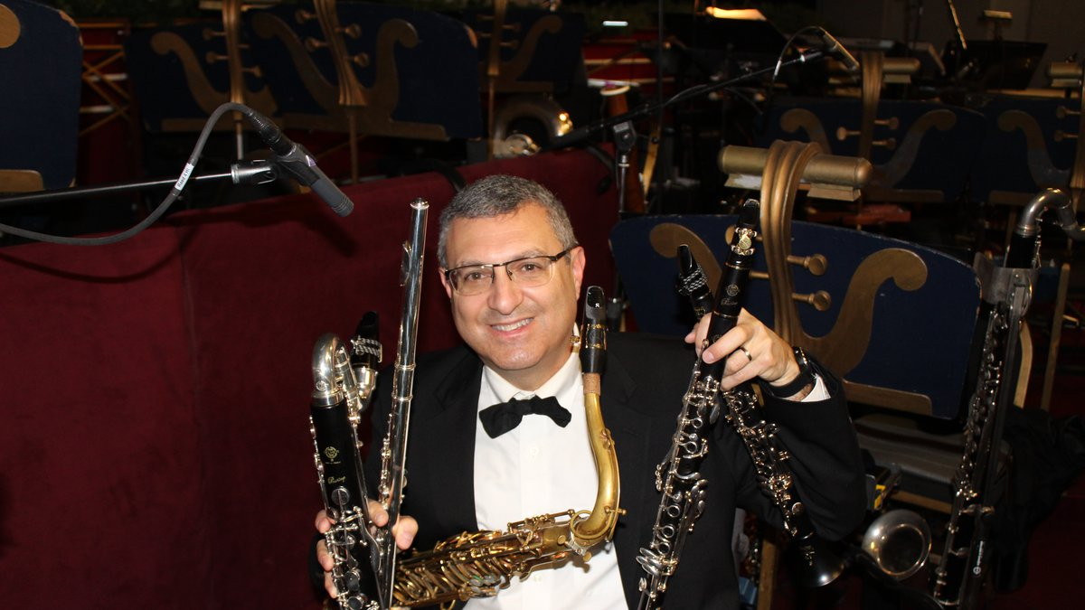 WKU Music Professor John Cipolla in the orchestra pit at Radio City Music Hall in New York...