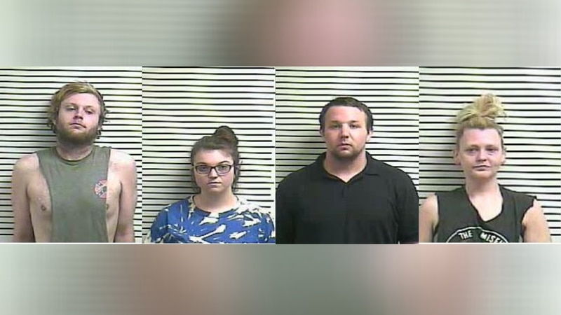 (l-r) Zachary Taylor, 22; Chelsey Scruggs, 21; Jacob A. Smith, 25; Ashley D. Goosetree, 32 all...