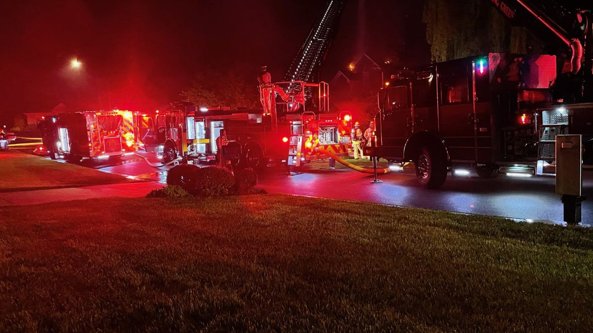 Structure fire at a home on Pine Creek Court