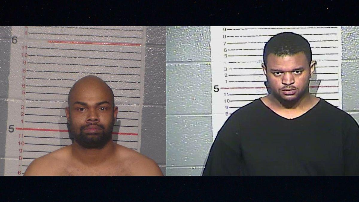 Samuel Payne (left) and Kendrick Bixler (right) mugshots, Damaja Hardy's mugshot was not...
