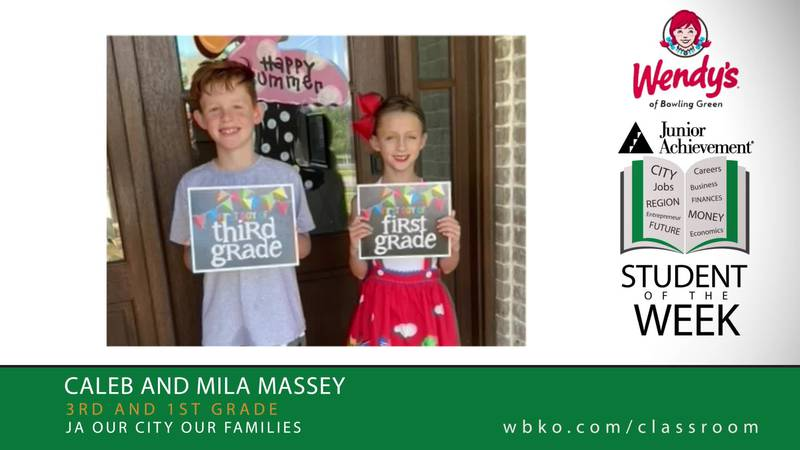The JA Students of the Week are Caleb and Mila Massey
