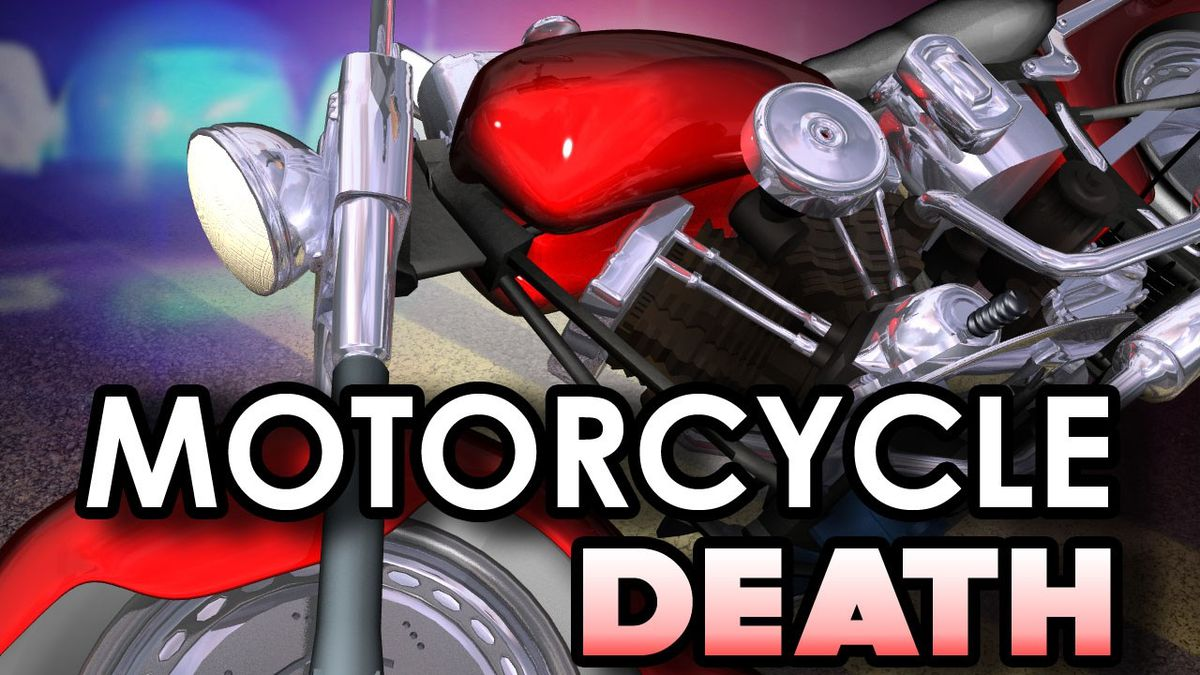 Motorcyclist hits street sign and is killed