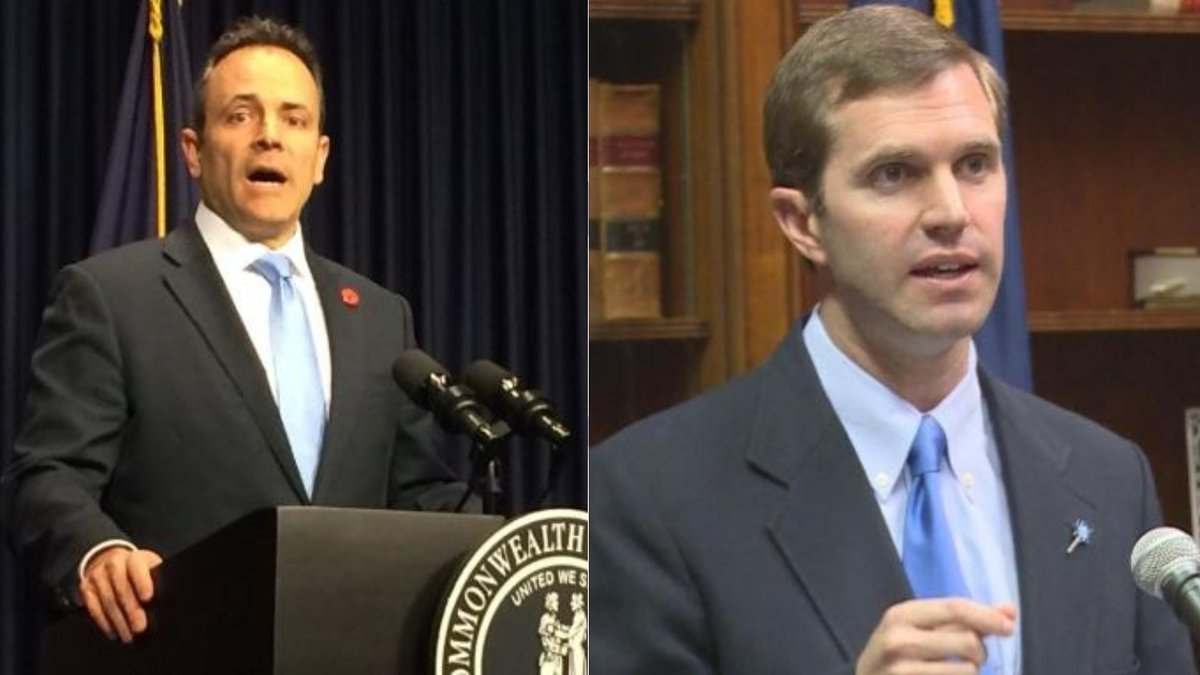 Kentucky Governor Matt Bevin (Left) and Attorney General Andy Beshear (Right). (WKYT)