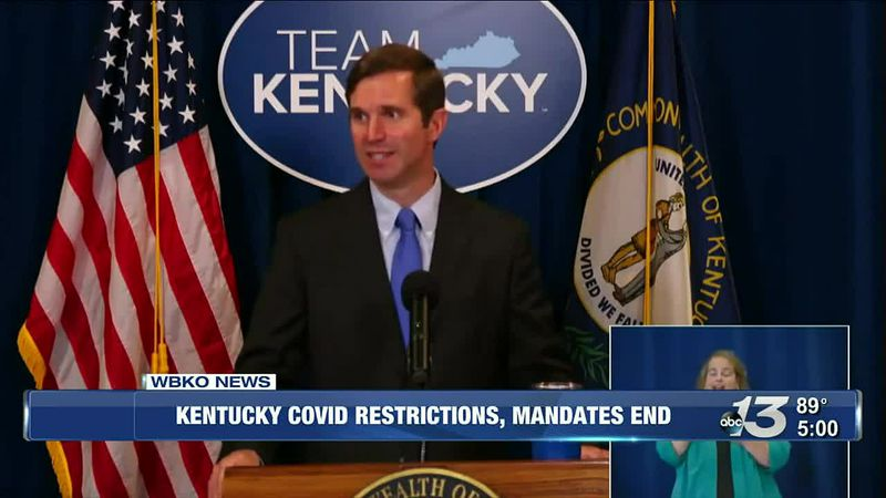 Kentucky Covid Restrictions, Mandates End @ 5