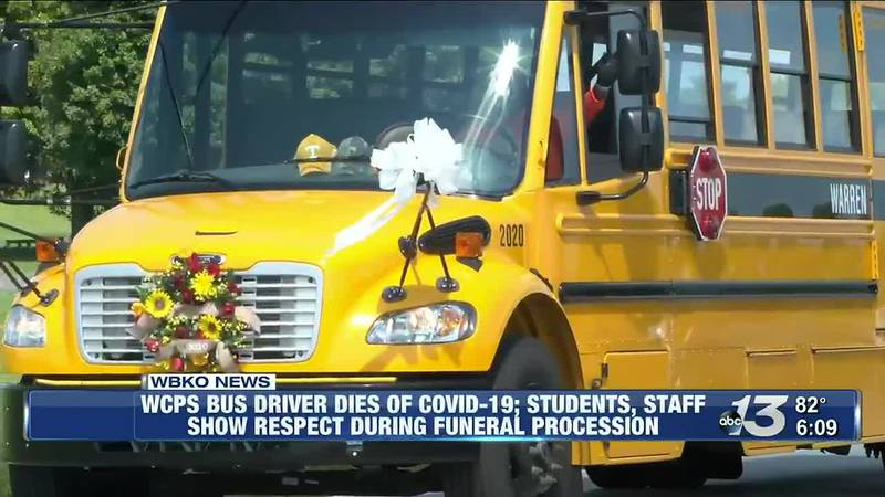 WCPS Bus Driver Dies of COVID-19; Students, Staff Show respect During Funeral Procession