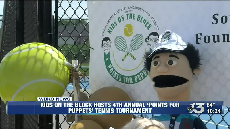 Kids on the Block hosts 4th annual 'Points for Puppets' tennis tournament