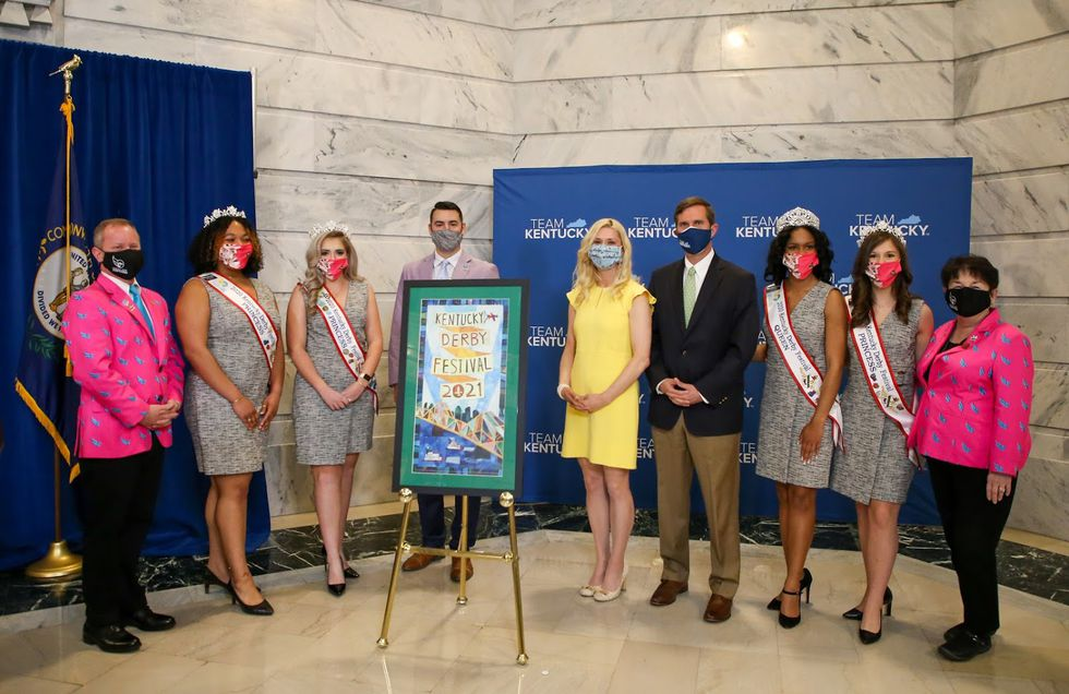 Leaders from the Kentucky Derby Festival and the 2021 Derby Festival Royal Court joined the...