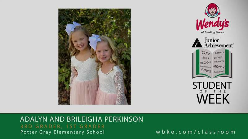 The JA Students of the Week are Adalyn and Brileigha Perkinson