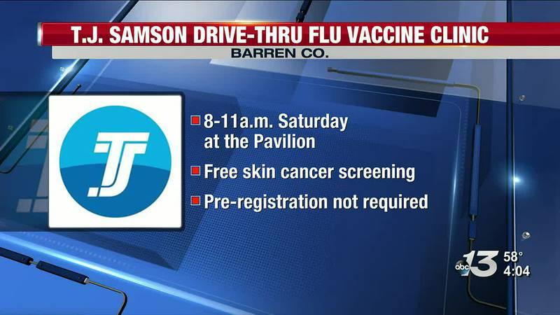 TJ Sampson Host Drive-Thru Flu Vaccine Clinic