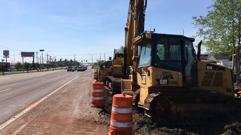 Construction picks up along Scottsville Rd.