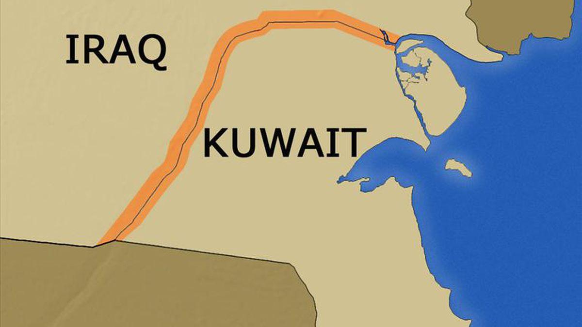 Kuwait border with Iraq.