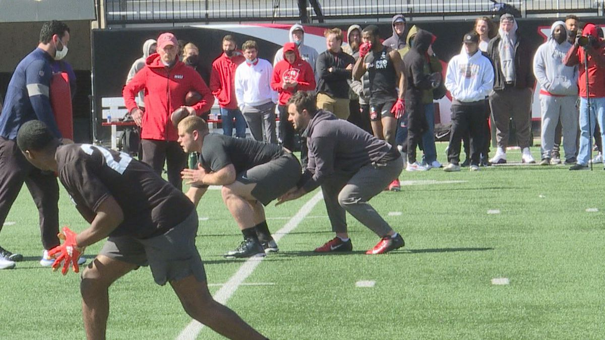 Western Kentucky NFL prospects look to catch the attention of scouts at pro day.