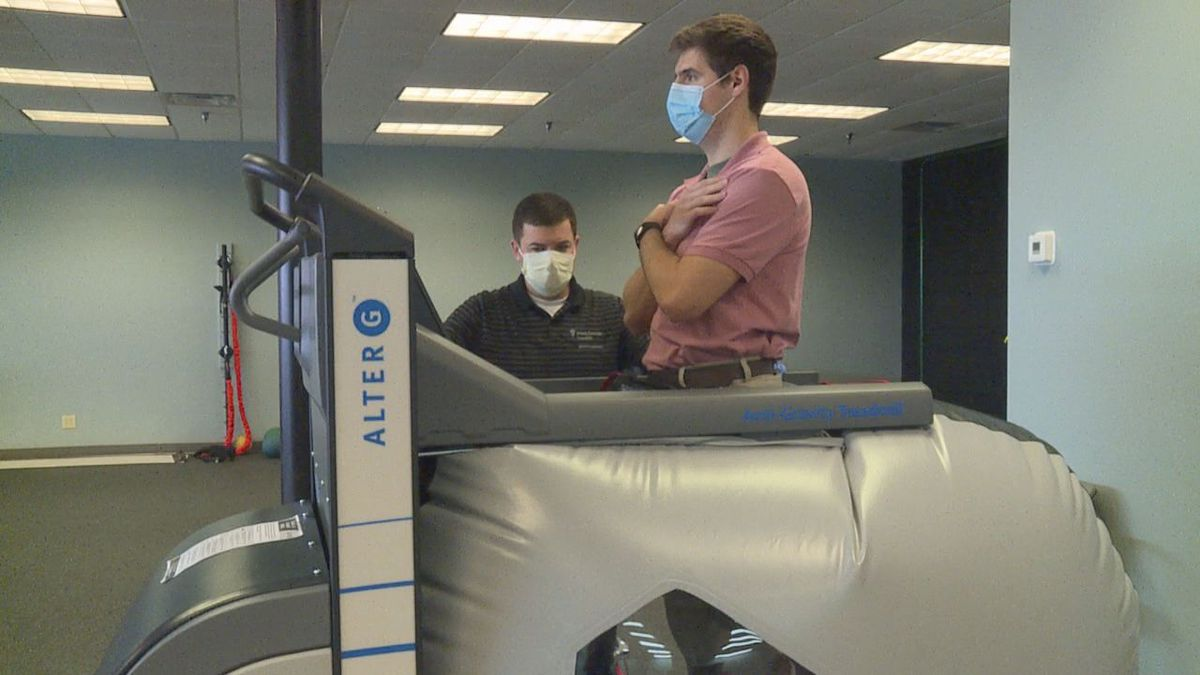 Medical machine helps the injured