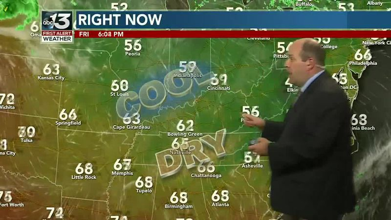 Saturday looks dry, showers possible Sunday