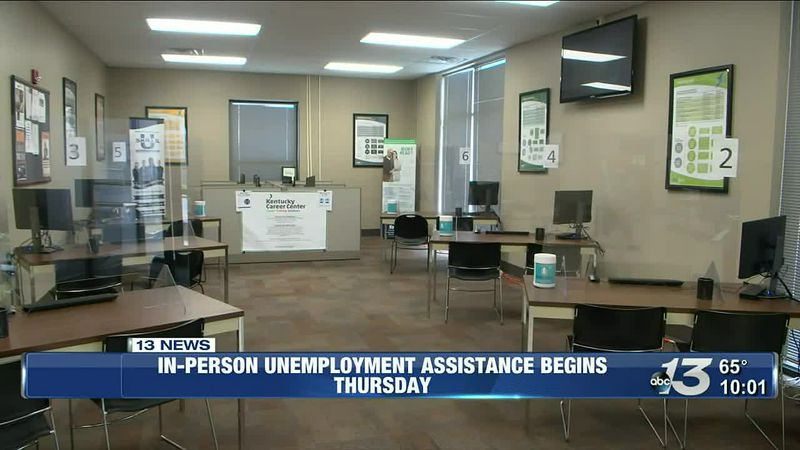 In-person unemployment assistance starts Thursday