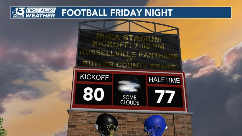 High school football games in south-central Kentucky should be good to start on time with warm,...