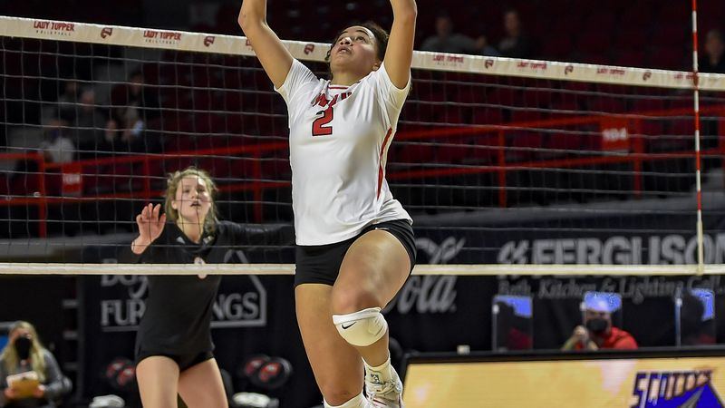 Western Kentucky Hilltoppers setter Nadia Dieudonne (2) Mercer Bears at WKU Hilltoppers on...