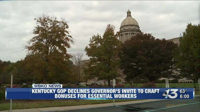 KY GOP Declines Governor's Invite to Craft Bonuses for Essential Workers @ 6