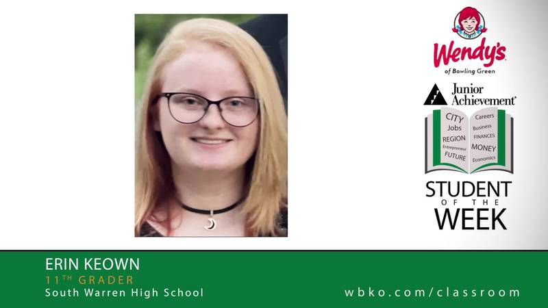 The JA Student of the Week of Erin Keown