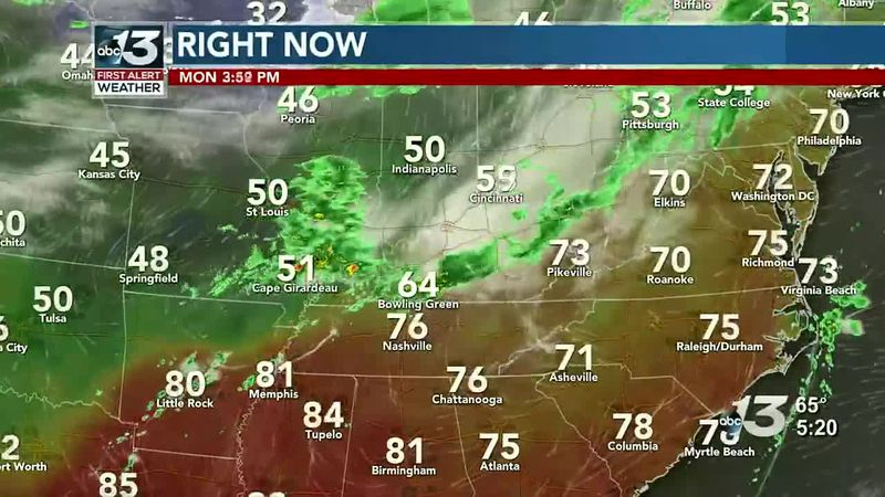 Brighter Skies Send Temps into the 80s