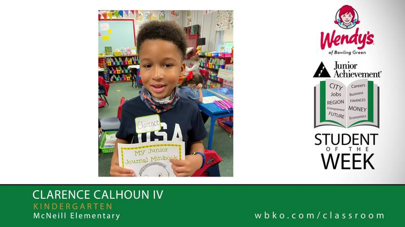 The JA Student of the Week is Clarence Calhoun IV