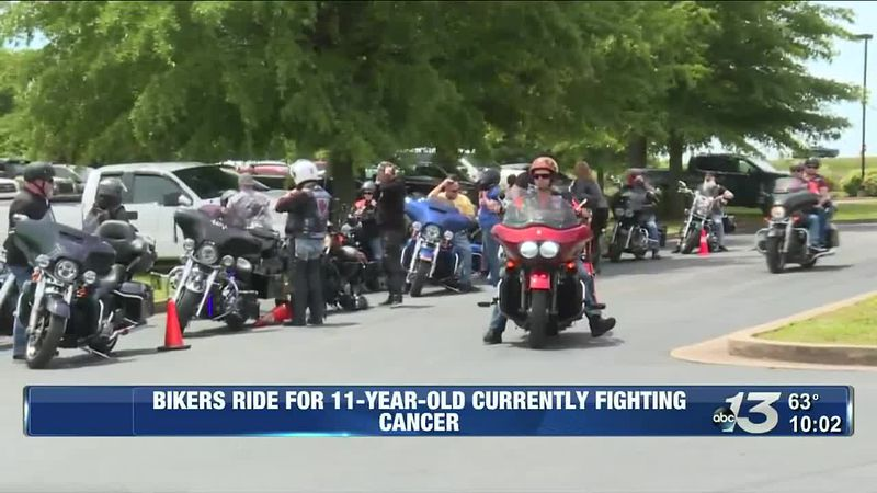 Bikers ride for 11-year-old battling cancer in Bowling Green