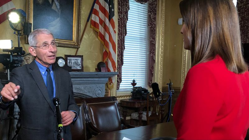 Washington Bureau Chief Jacqueline Policastro interviewed Dr. Anthony Fauci of the White House...