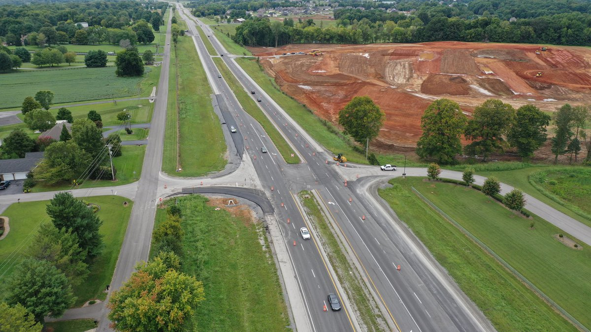 Drone footage of the Construction from Dye Ford Road and Mt. Lebanon Church Road.