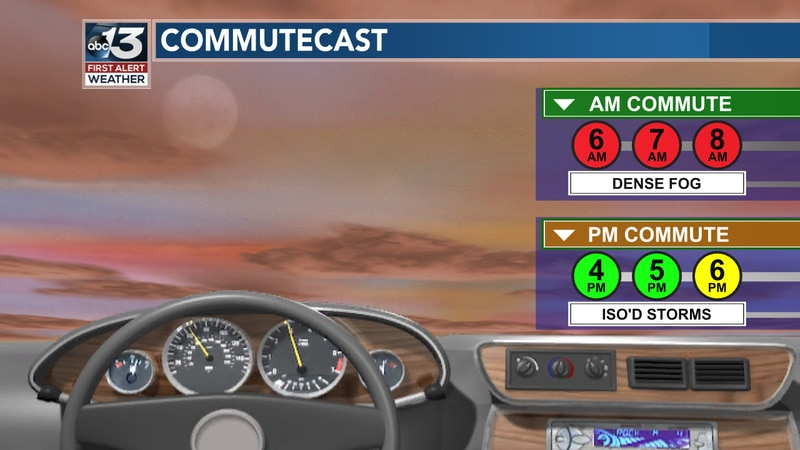 The morning commute will be plagued by fog, but this afternoon shouldn't too bad unless you're...
