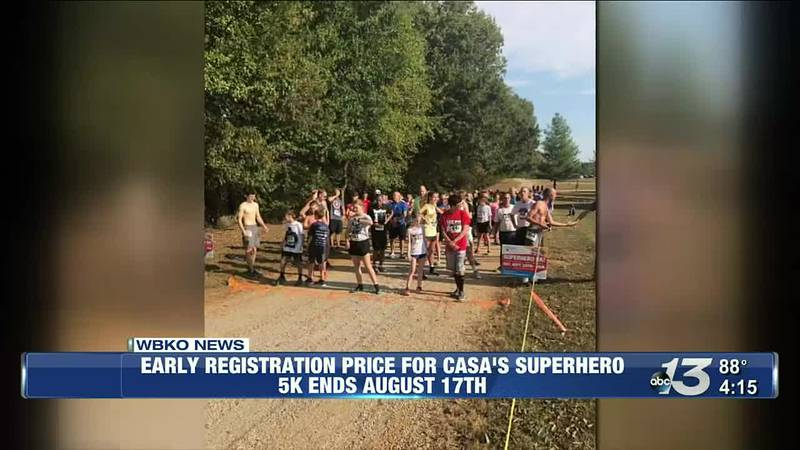 Early registration price for CASA's superhero 5k ends August 17th
