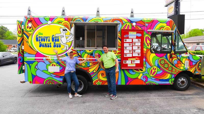 The food truck event includes seven trucks and nine vendors selling a variety of food and...