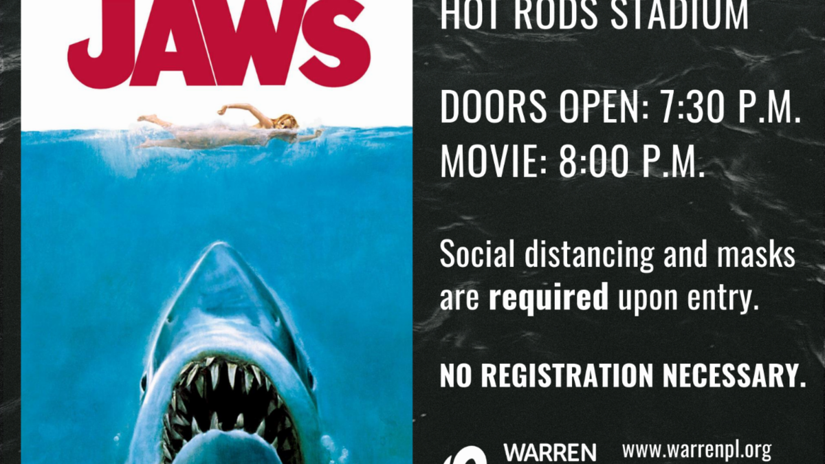 Warren County Public Library's screening of Jaws the movie, Friday, September 18, at the Hot...