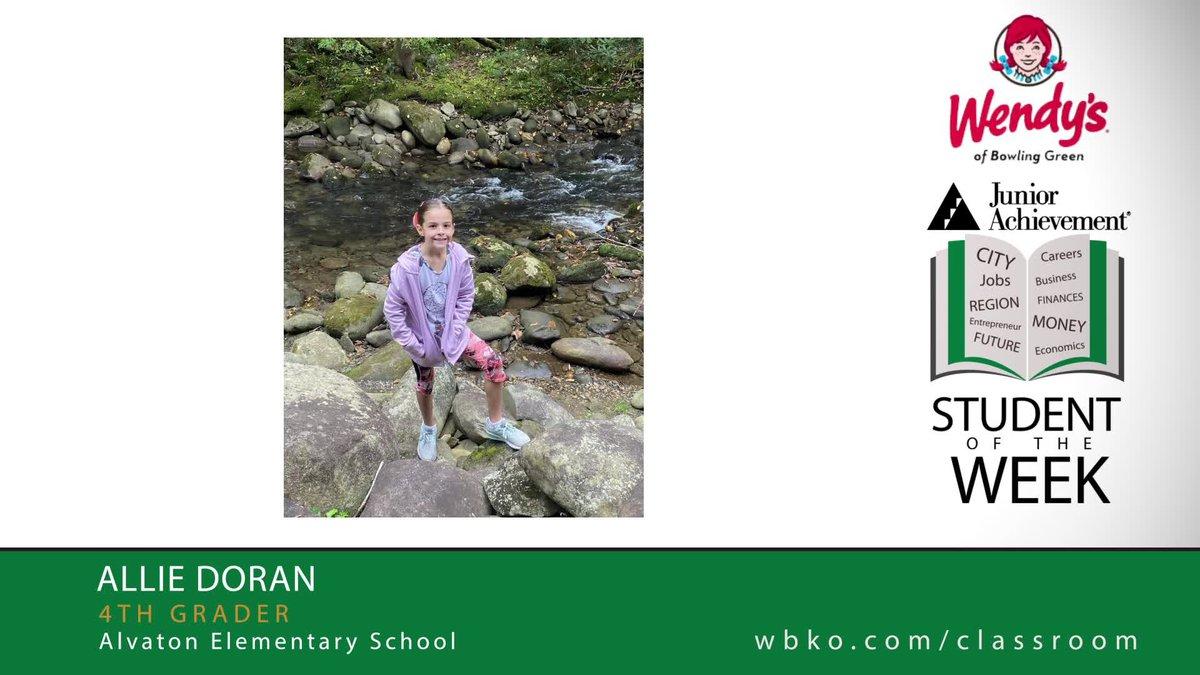 The JA Student of the Week is Allie Doran