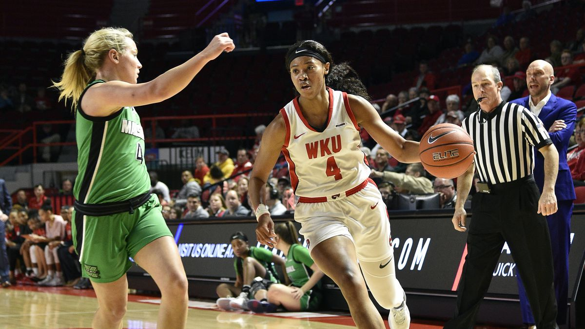 Western Kentucky Hilltoppers forward Dee Givens (4) Marshall Thundering Herd at WKU Hilltoppers, February 20, 2020 at E.A. Diddle Arena