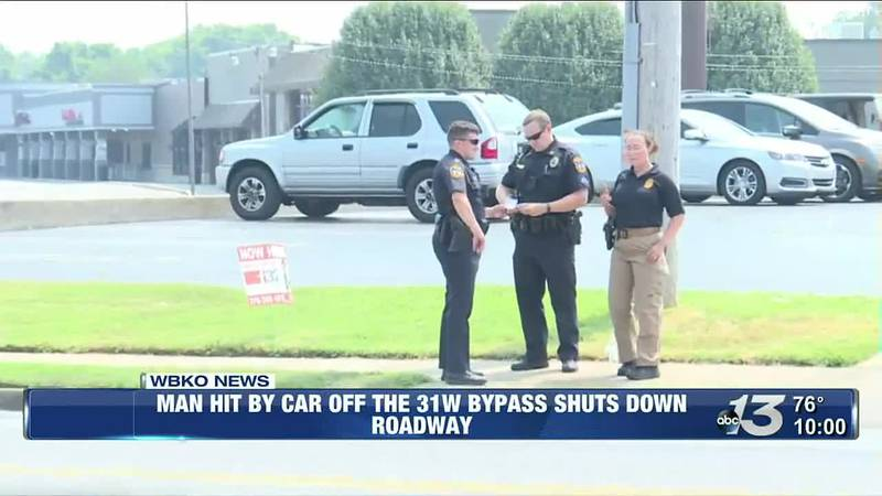 Man hit by car off the Bypass, roadway shut down