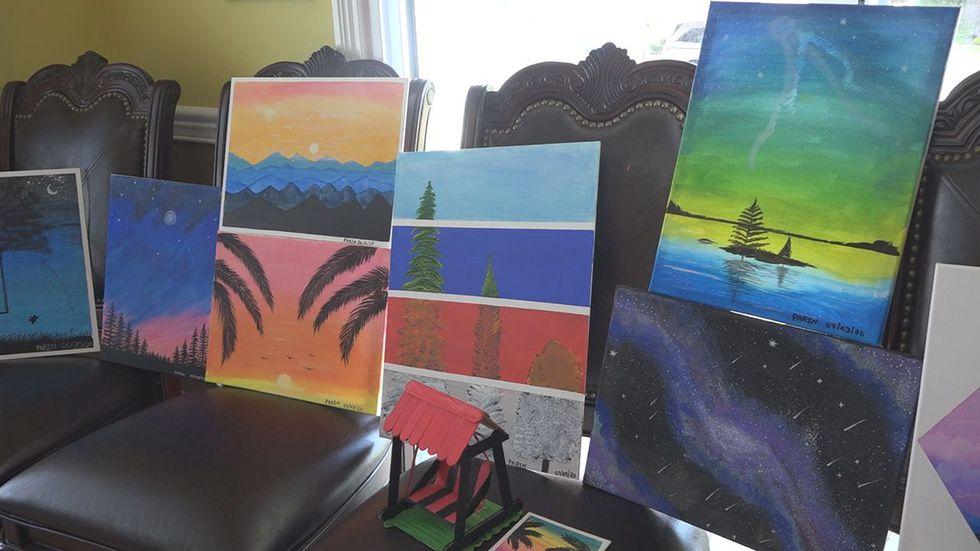Parin's paintings