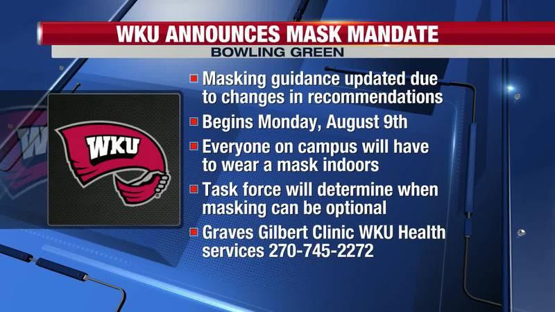 WKU announces mask mandate starting Monday, August 9
