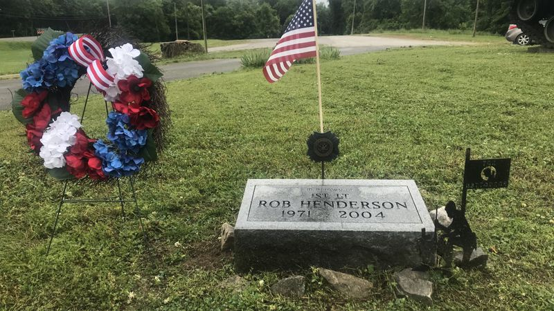 First Lt. Rob Henderson wreath laying