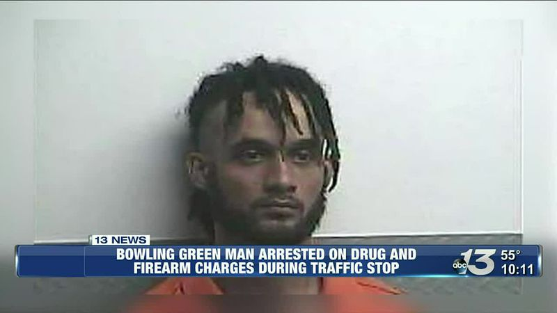 Bowling Green man arrested on drug and firearm charges during traffic stop