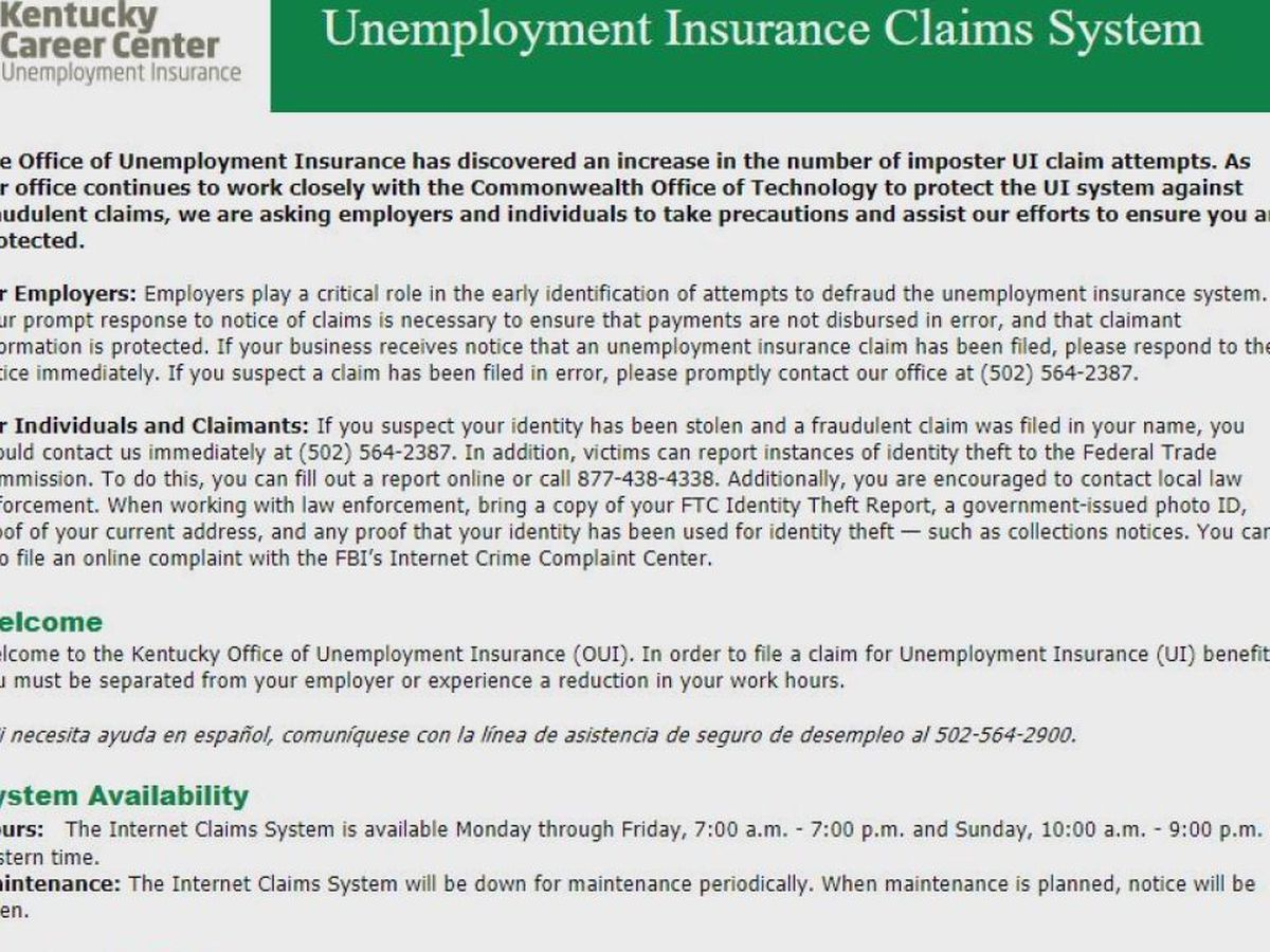 Unemployment Insurance Announces In Person Services By Appointment