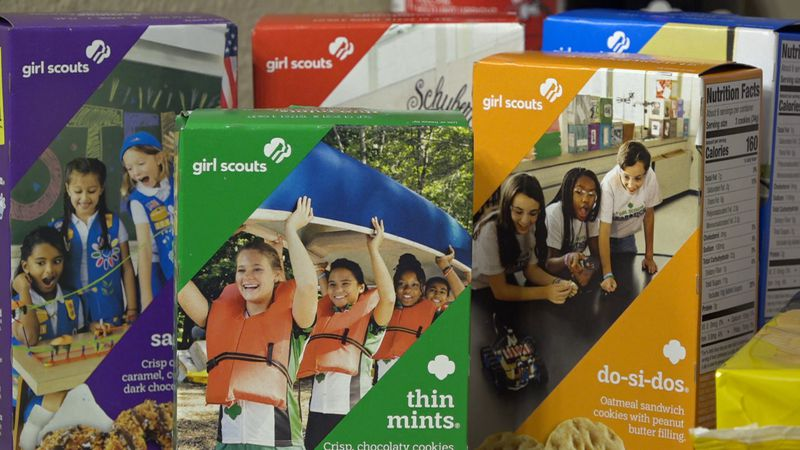 Girl Scout Cookies are available for online sale now and booths and drive-thru locations will...