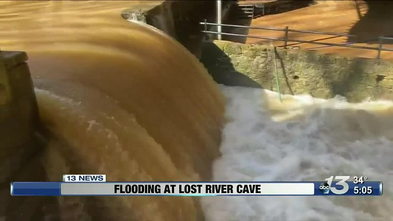 Flooding at Lost River Cave