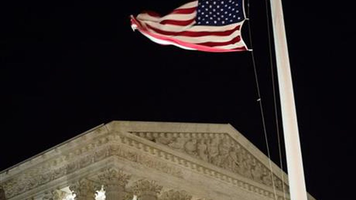 A U.S. flag flies at half-staff in front of the U.S. Supreme Court in Washington Saturday, Feb. 13, 2016, after is was announced that Supreme Court Justice Antonin Scalia, 79, had died. A U.S. flag flies at half-staff in front of the U.S. Supreme Court in Washington Saturday, Feb. 13, 2016, after is was announced that Supreme Court Justice Antonin Scalia, 79, had died.