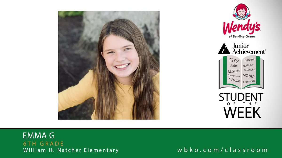 The JA Student of the Week is Emma, a 6th grader at Natcher Elementary.