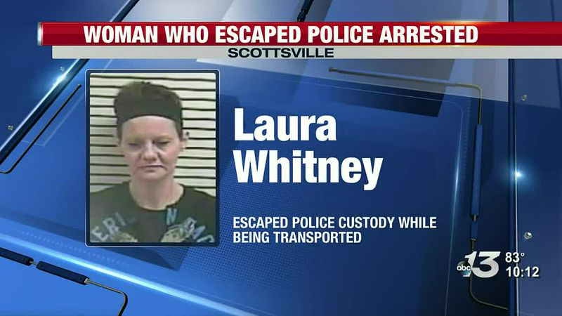 UPDATE: Woman who escaped custody in Scottsville apprehended